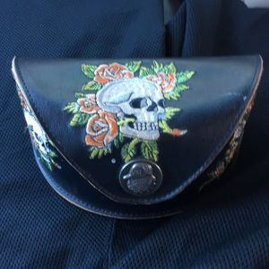 Ed Hardy EHS-001 skull sunglasses with case